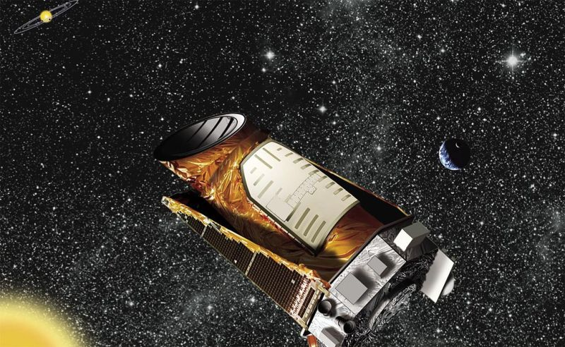 Artist's concept of the Kepler Space Telescope, via NASA/Ames/JPL-Caltech