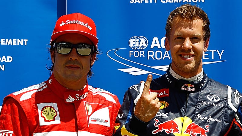 Illustration for article titled Did Sebastian Vettel Just Sign A Three-Year Deal With Ferrari?