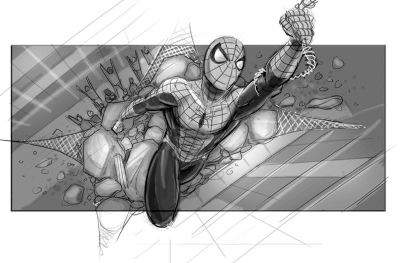 Illustration for article titled Aparecen nuevos bocetos de Spider-Man 4, la prometedora secuela que Sam Raimi no pudo hacer