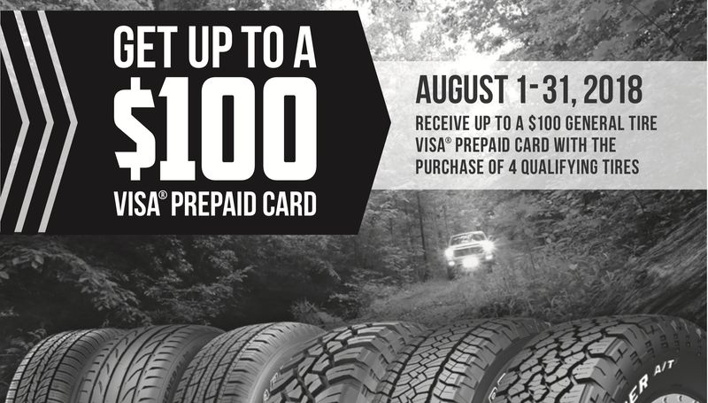 Up To $100 Rebate With General Tire Purchase | Walmart