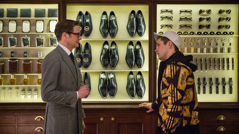 Illustration for article titled Kingsman is a slick, gory spy pastiche—just don't think about it too hard