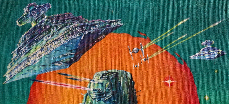 Illustration for article titled The Original Art Behind Some of the Craziest Star Wars Posters