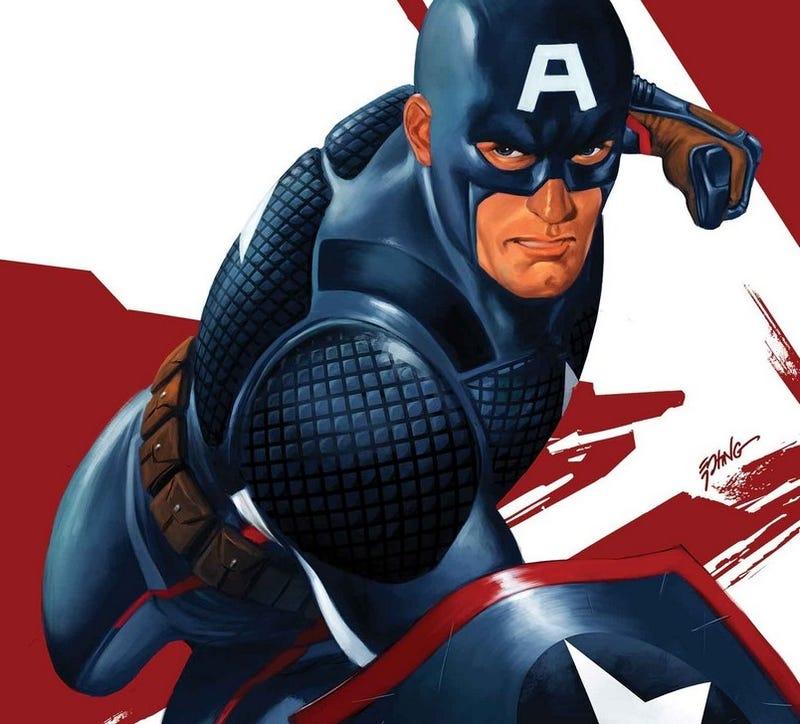 The variant cover of Captain America: Steve Rogers #1, art by Steve Epting.