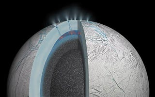 Illustration for article titled A Warm Seafloor On Enceladus Makes It A Prime Candidate For Life