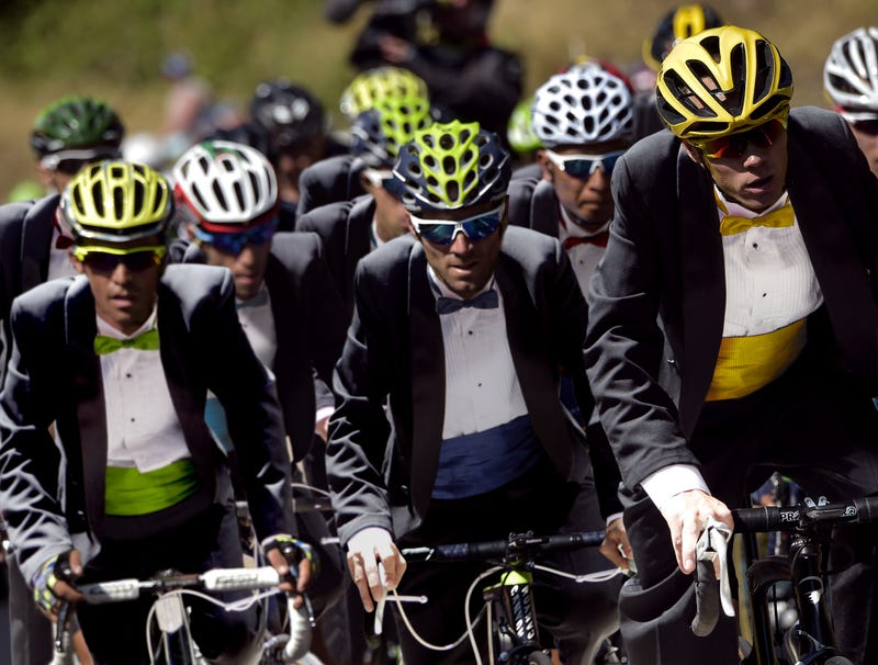 Illustration for article titled Bicyclists Begin Formalwear Stage Of Tour De France