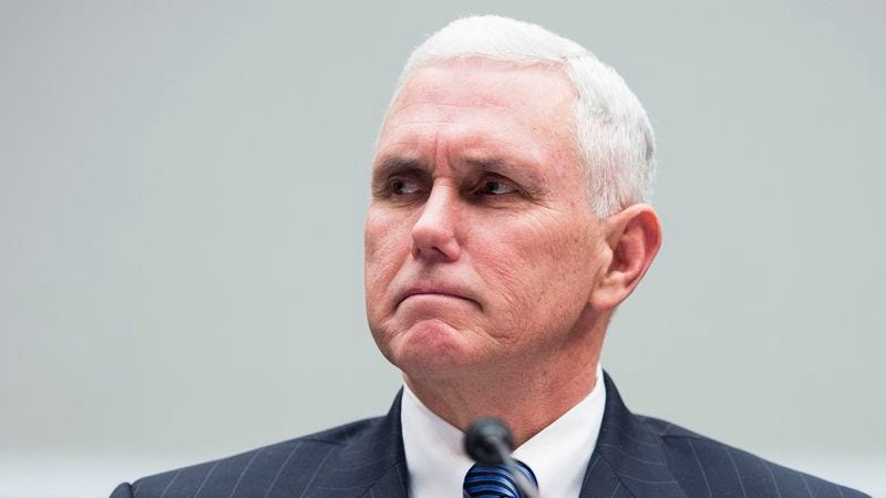 Illustration for article titled Mike Pence Disappointed In The 200,000 Husbands And Fathers Who Permitted Women To Attend March