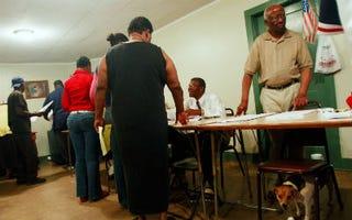 Black voters at polls in Selma, Ala. (Mario Tama/Getty Images)
