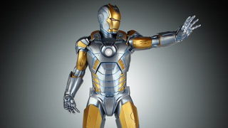 Illustration for article titled Hajime Sorayama's gorgeous Iron Man suit is becoming an expensive Statue