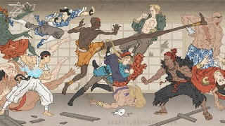 Illustration for article titled Modern Video Game Heroes as Traditional Japanese Paintings