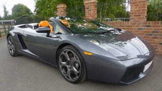 "Illustration for article titled Jeremy Clarkson's Lamborghini Gallardo Spyder gets a ""For Sale"" sign"