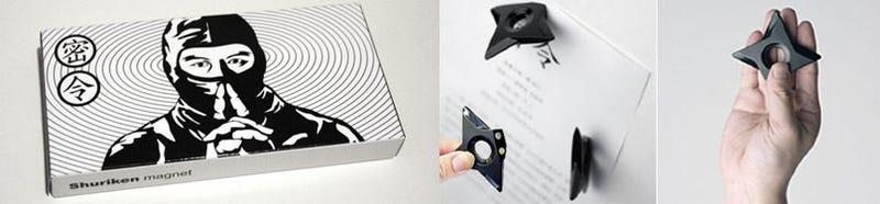 Illustration for article titled Shuriken Magnets for Refrigerator Ninjas