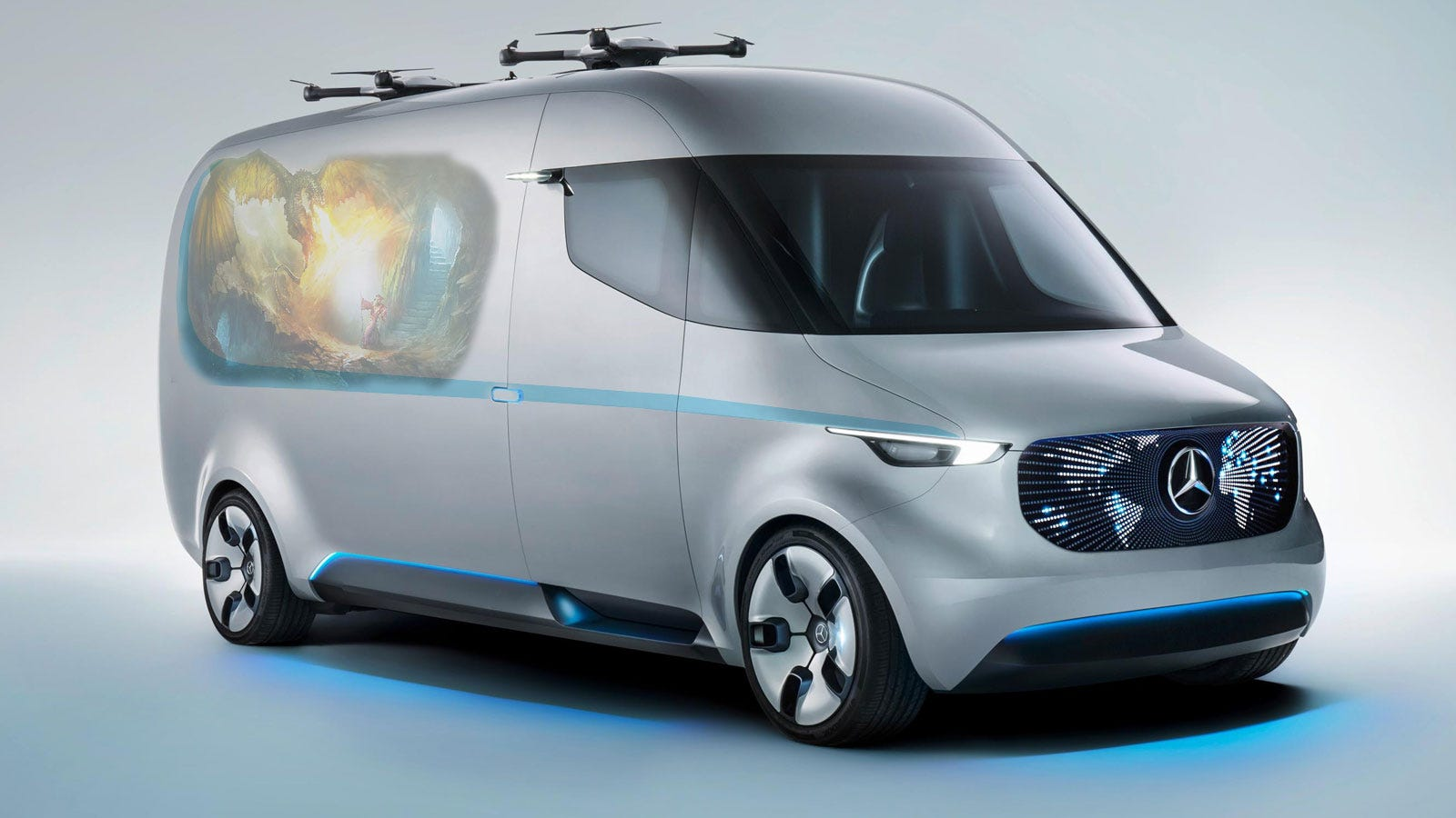 This is the mercedes benz van of the future but i think it for Mercedes benz van