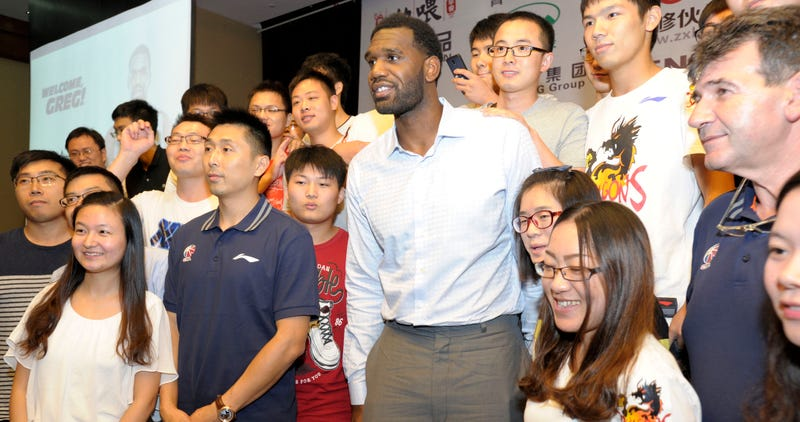 Illustration for article titled Greg Oden Put Up A Double-Double In His Chinese Basketball Debut