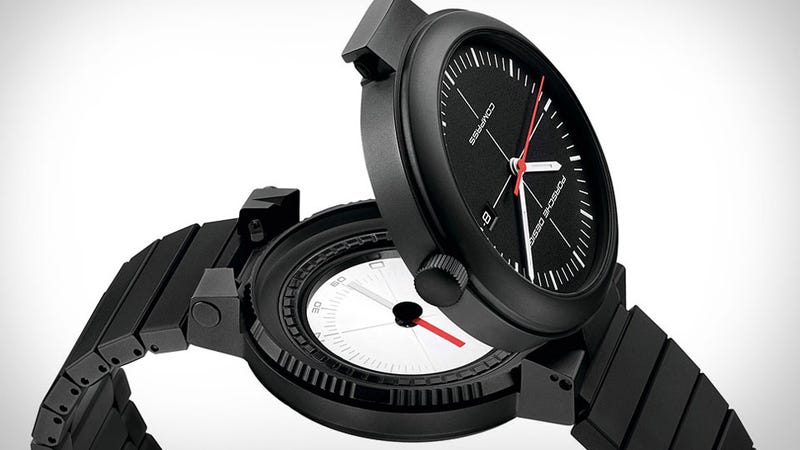Illustration for article titled Porsche's Compass Watch Makes Me Wish I Needed a Compass More Often