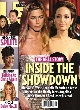 Illustration for article titled This Week In Tabloids: Aniston & Angie's Oscar Showdown
