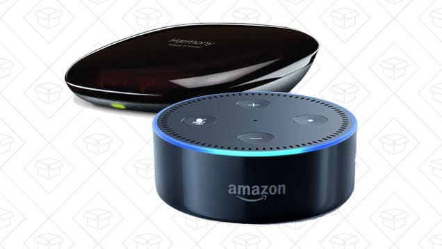 The Versatile Logitech Harmony Hub Basically Comes With a Free Echo Dot  Right Now