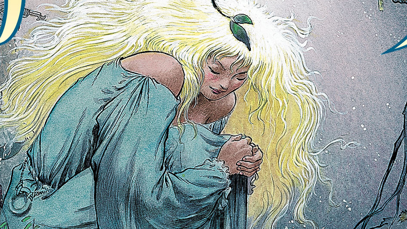Art from the Vertigo adaptation of Stardust by Charles Vess