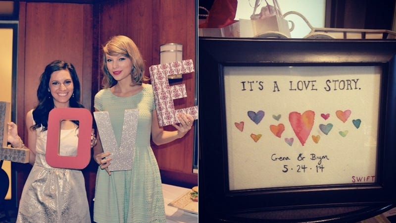 Illustration for article titled Taylor Swift Turned Up at a Superfan's Bridal Shower