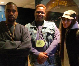 Cameron Sterling (center) with Kanye West (left)Twitter