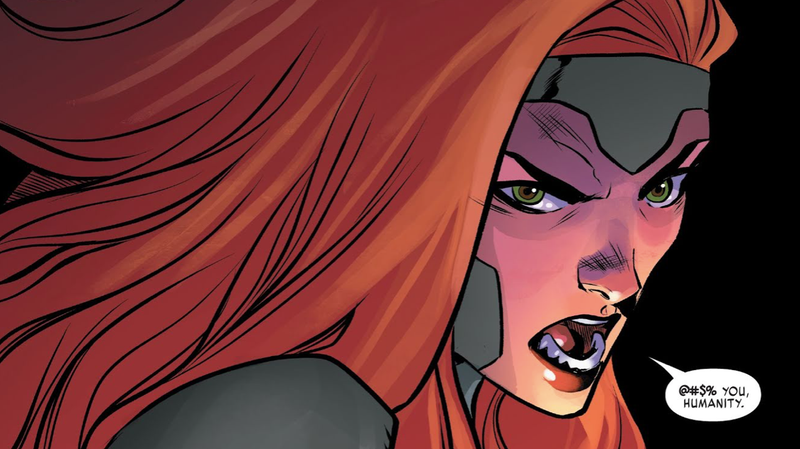 Jean Grey proclaiming to the world.