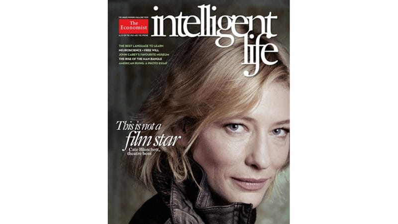 Illustration for article titled Attention-Grabbing Mag Cover Features Gorgeous Cate Blanchett Without Photoshop