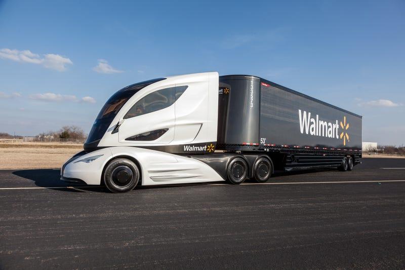 Illustration for article titled Walmart's new futuristic semi