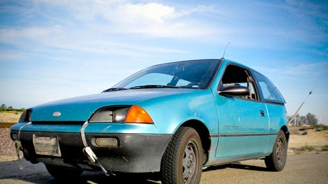 this guy has been living in a six wheel geo metro camper for a year. Black Bedroom Furniture Sets. Home Design Ideas