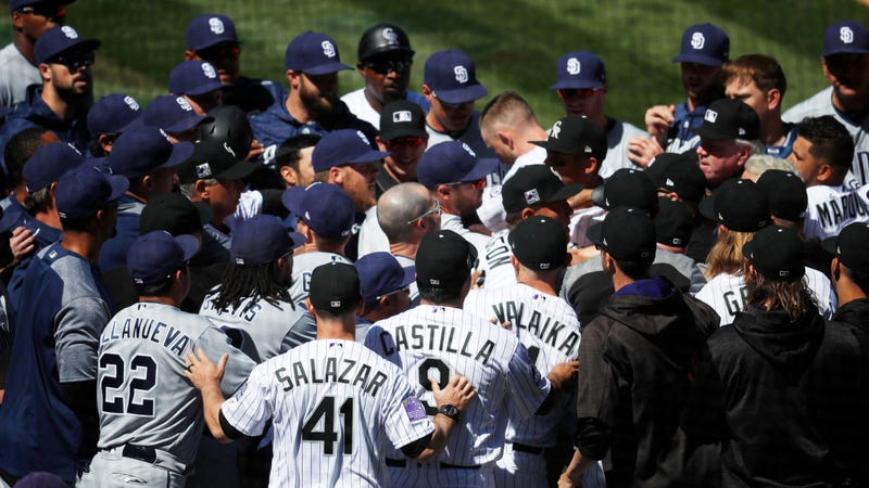 Illustration for article titled The Rockies And Padres Had Themselves A Scuffle