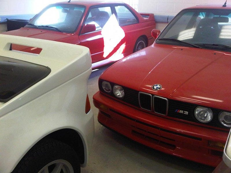 Illustration for article titled Best Barn Find Ever: Two Brand-New BMW E30 M3s And A Fast Ford