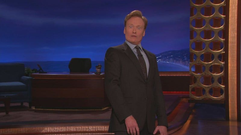 Illustration for article titled Twitter is cracking down on joke theft, and Conan O'Brien is being sued for it