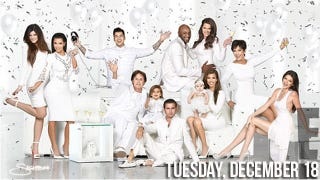 Illustration for article titled The Kardashian Christmas Card Looks Like a Tampon Ad