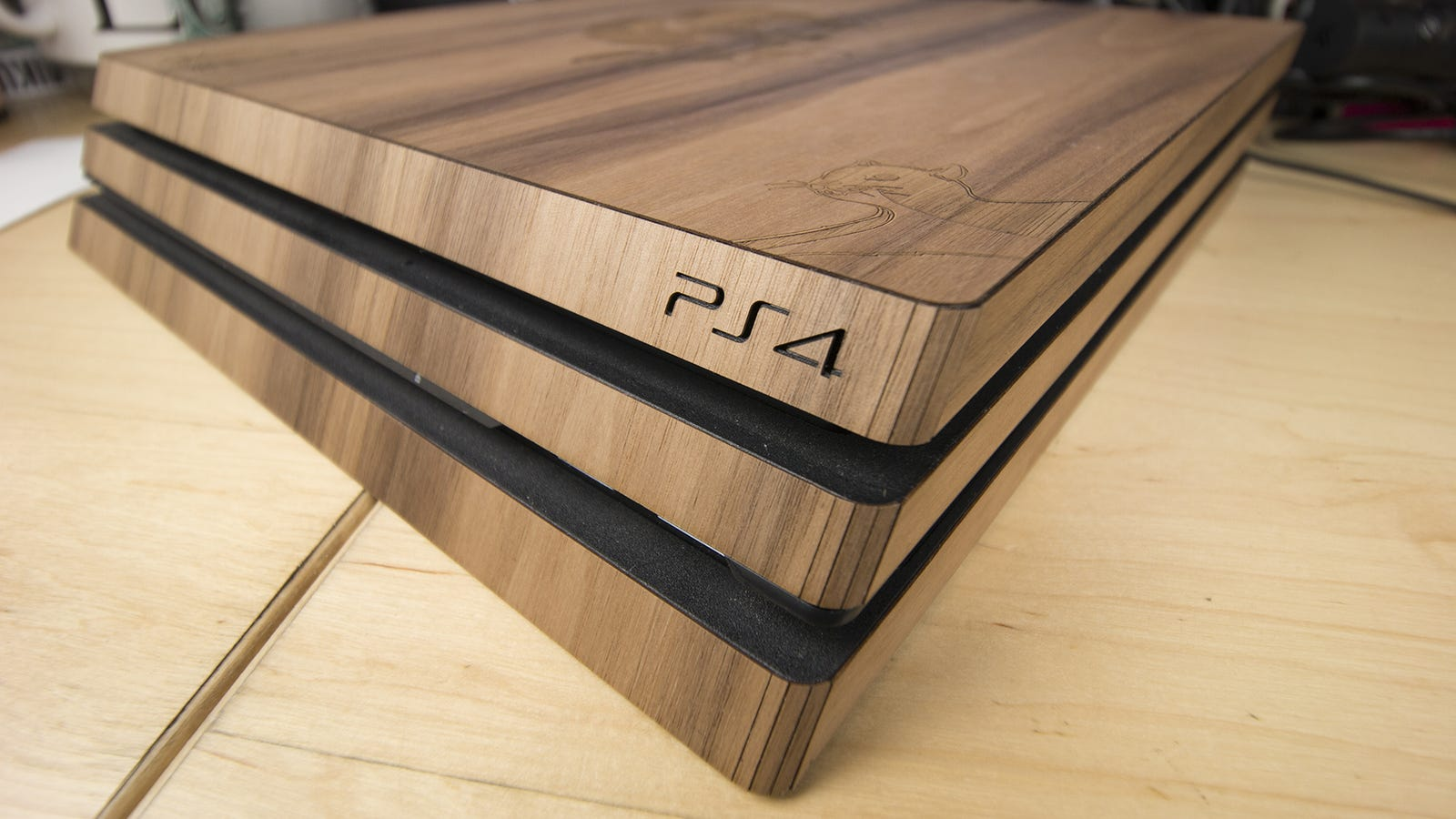 Book Cover Diy Xbox One : Wrapping my playstation in wood