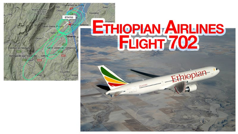 Illustration for article titled Possible aircraft hijacking. ET702 (OVER)