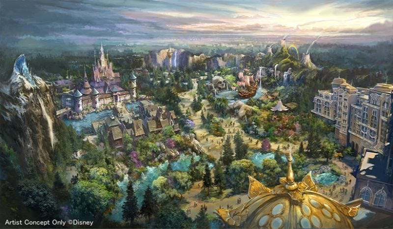 Illustration for article titled Tokyo DisneySea Is Getting A New Area Called Fantasy Springs