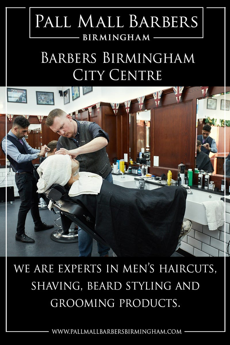 Illustration for article titled Barbers Birmingham City Centre | Call 01217941693 | pallmallbarbersbirmingham.com