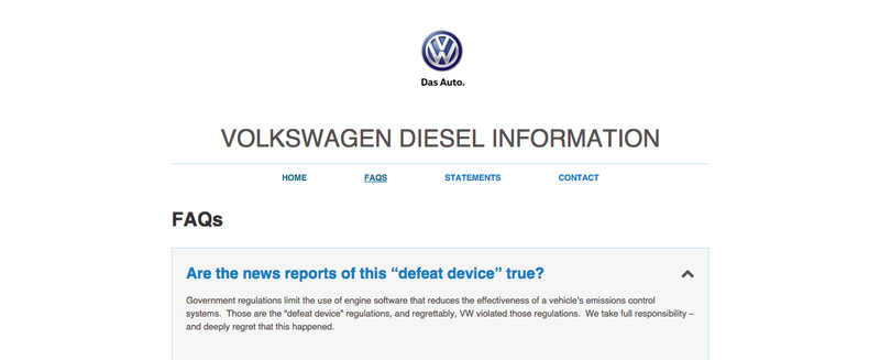 Illustration for article titled Volkswagen Launches Website To Help Consumers With Its Diesel Crisis