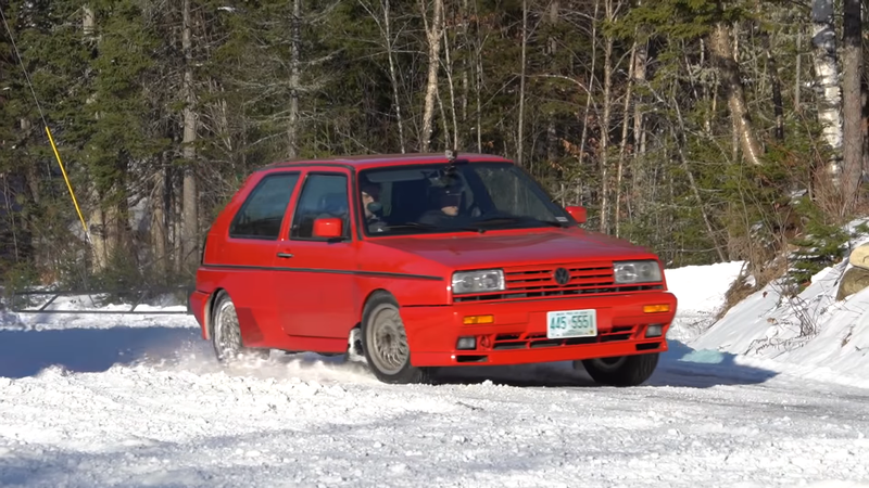 Illustration for article titled Hooning Around in a Volkswagen Rallye Golf is a Rare Treat
