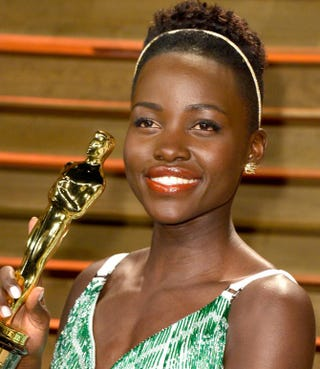 Lupita Nyong'o attends the 2014 Vanity Fair Oscar party.Pascal Le Segretain/Getty Images