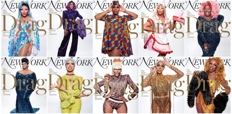(clockwise from top left) Myron Morgan, Ra'Jah O'Hara, Monae X Change, Miss Peppermint, Latrice Royale, Honey Davenport (bottom right), Trinity K Bone't, Coco Montrese (bottom center), Yvie Oddly, Jaidynn Fierce