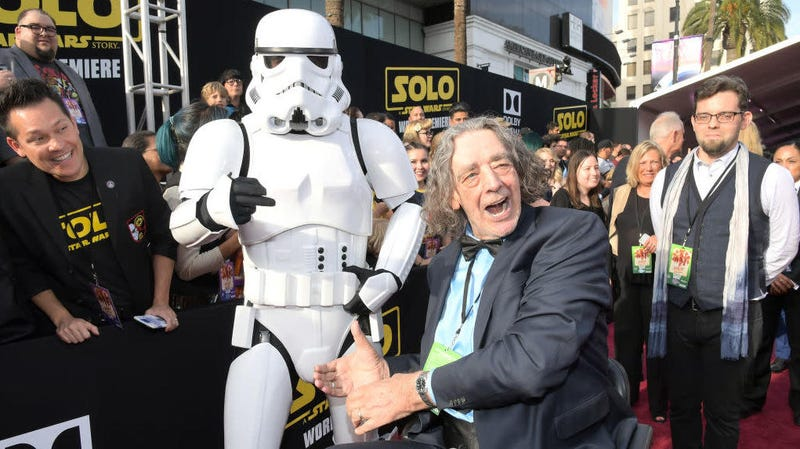Peter Mayhew at the premiere of Solo in 2018.