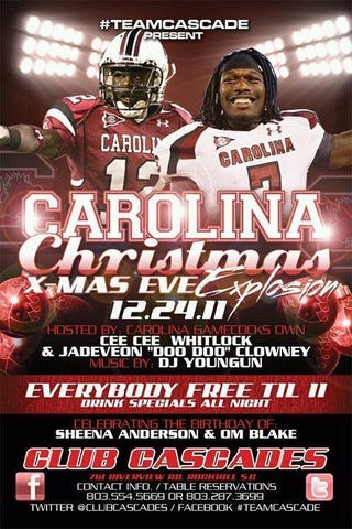 Illustration for article titled Not This Shit Again: Now It's South Carolina Football Players Promoting A Nightclub Party