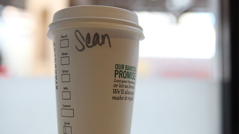 Illustration for article titled They Spelled It 'Sean': How One Barista Destroyed This Man's Morning