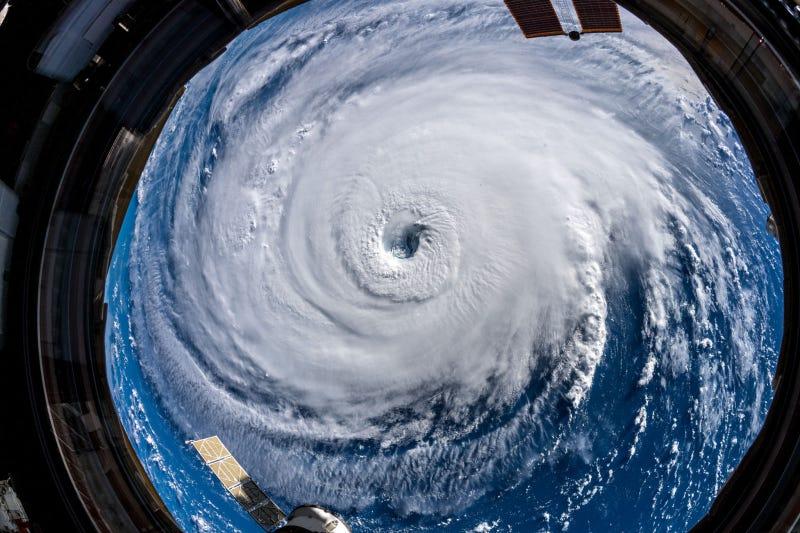 El huracán Florence, visto desde la Estación Espacial Internacional