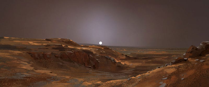 Illustration for article titled Sunset On Mars? Not Romantic.