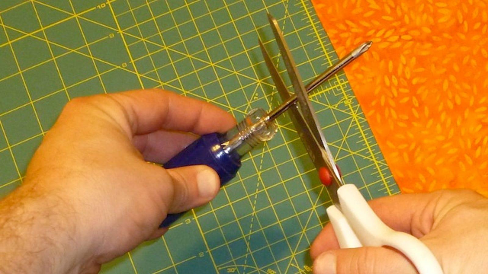 Fix Dull Scissors with a Screwdriver