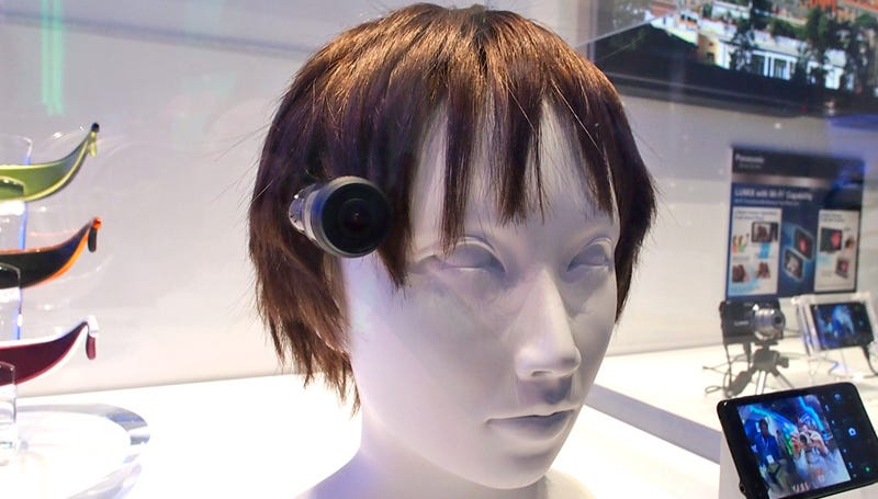 Illustration for article titled Panasonic's Third Eye Camera Concept: Terrible Haircut Required!