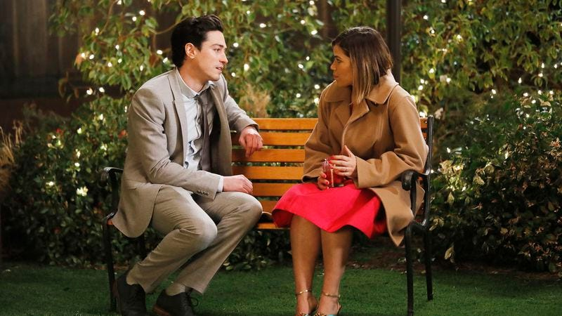 Ben Feldman (left), America Ferrera (Photo: Trae Patton/NBC)