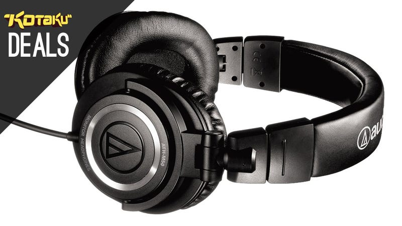 Illustration for article titled Audio-Technica ATH-M50S, Razer BlackWidow, G500s, 3DS XL [Deals]