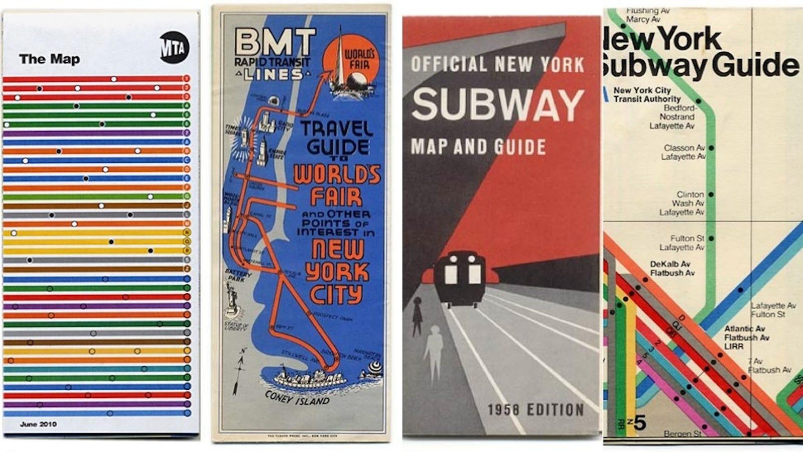 1958 New York Subway Map.15 Subway Maps That Trace Nyc S Transit History