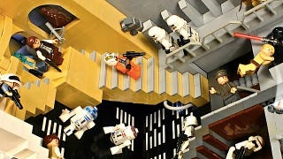 Illustration for article titled This LEGO Star Wars M.C. Escher diorama defines awesome